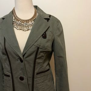 DKNY JEANS - Olive Riding Jacket w/ Elbow Pads